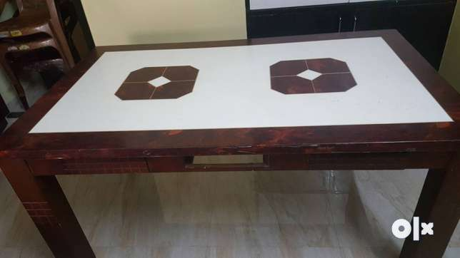 White And Brown Dinning Table with 6 chairs Navi Mumbai  : images644x461inslot1filename9dbusj0bx2921 IN from www.olx.in size 644 x 362 jpeg 15kB
