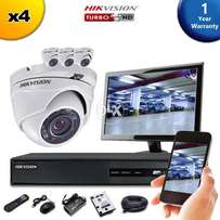 HIKVISION 4 Ch DVR With 4 HD 1080P CCTV Camera