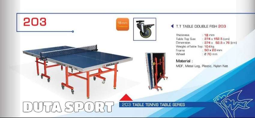 Tenis Meja Pingpong Double Fish 203 Original Import Table Tennis