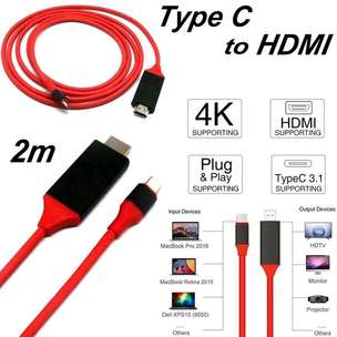 Kabel USB C TO HDMI / HDTV Video Cable 4K 2.0M for samsung S8