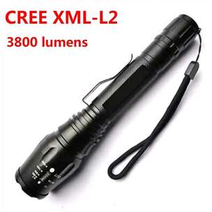Senter LED Cree 3800 Lumens Powerfull Super Terang Fokus Zoom
