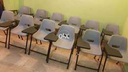 12 Study Desk Arm Chairs In Good Condition.