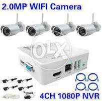 Wireless IP Cameras with NVR