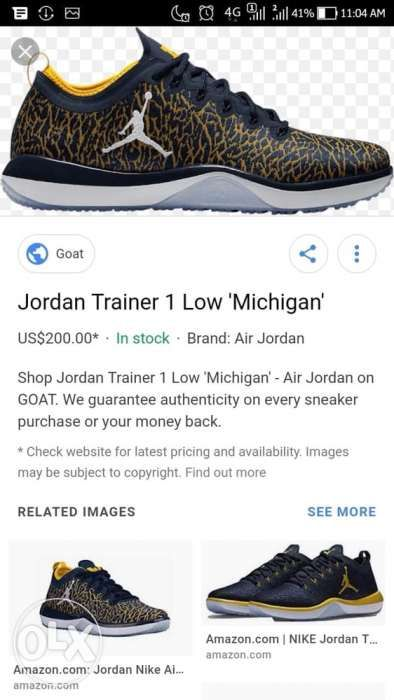 9ff113a3e879f Nike Air Jordan Trainer 1 Low Michigan Sz 10 in US in Parañaque ...