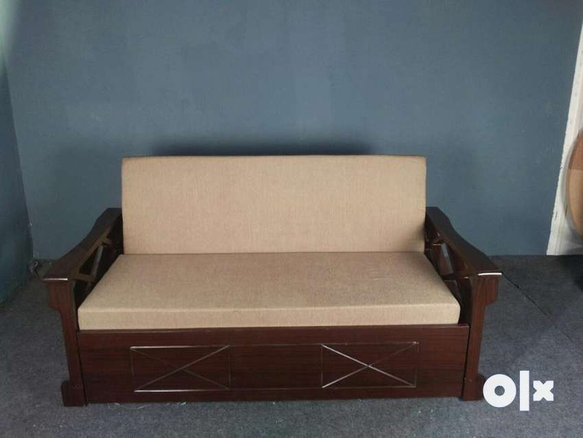 Brand New Sofa Cum Bed With Storage Assam Teak Wood