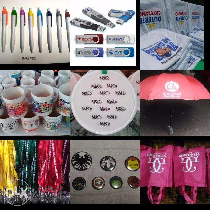 Mug Tshirt Id Lace Ballpen Umbrella Round fan Ecobag Printing
