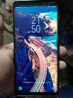 Note 8 with charger and with a clear view flip cover