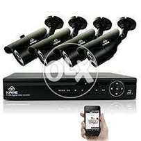 4 HD Cameras Hikvision CCTV Package (1000-GB) AMS PRovider