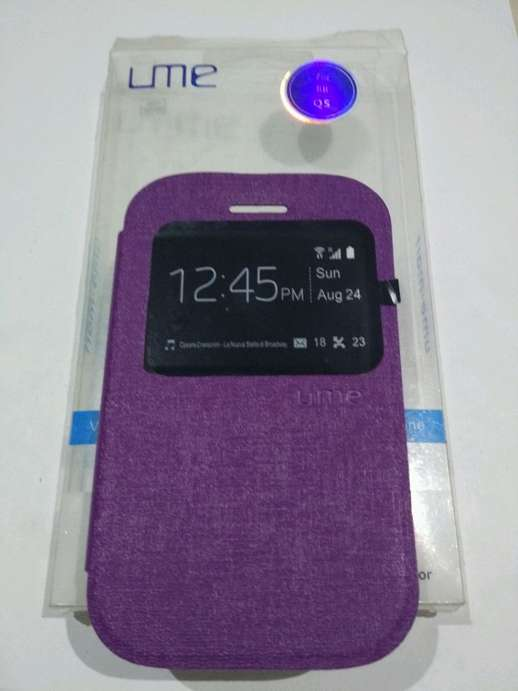 Case Flipcase Blackberry Q5 Varian Warna Ungu