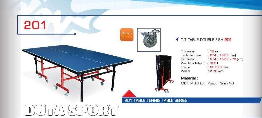 Tenis Meja Pingpong Double Fish 201 Original Import Table Tennis