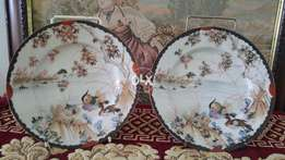 Antique early 20th century Asian plates