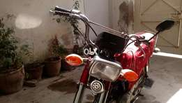 My honda cd 70. In new condition.