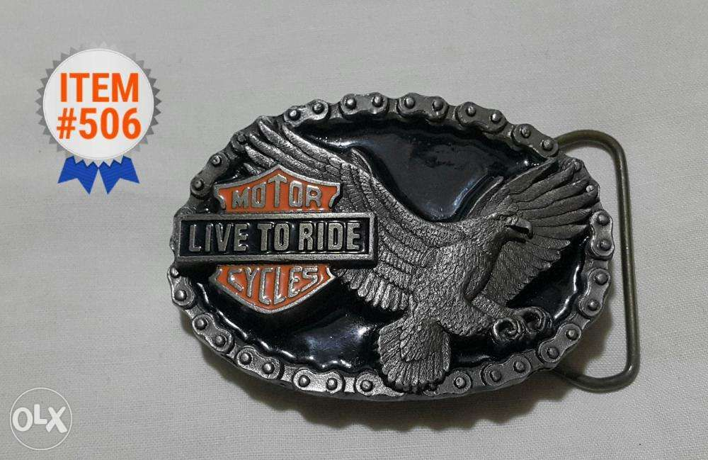 a0989191ed1e3 Buckles of America MOTOR CYCLES LIVE TO RIDE Vintage Belt Buckle USA ...
