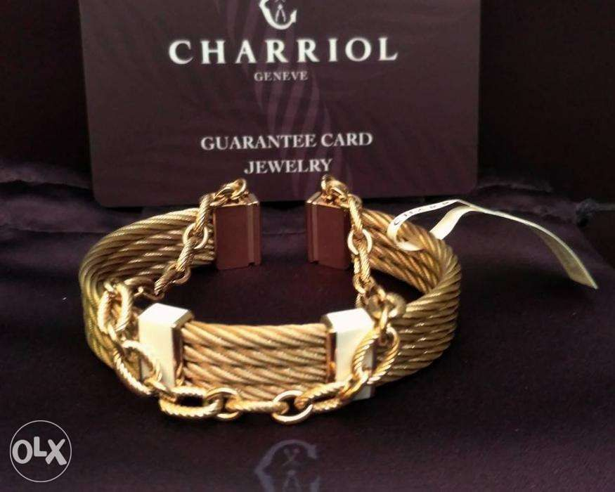 Brand New And Authentic Charriol Pink Gold St Tropez Bangle