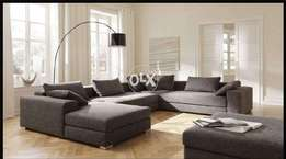 New U shape sofa Eight seater modern design | imported joot fabric