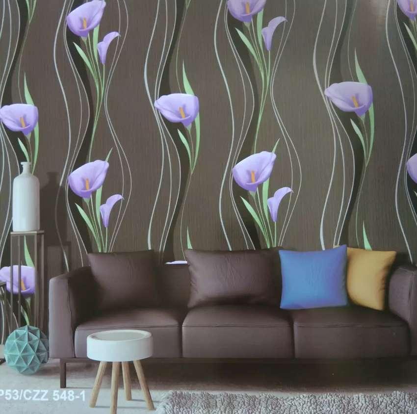Wallpaper Dinding Bunga Bunga Cantik Dekorasi Rumah 793505847