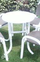small table in white shiny color outclass nylon