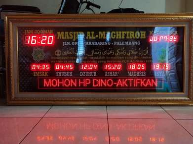 jual jam sholat digital dan  running text