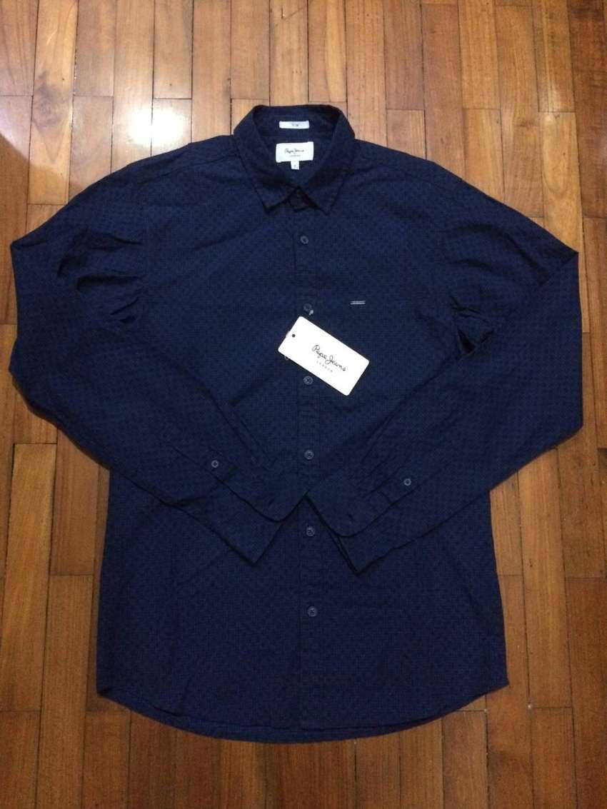 Kemeja Merk Pepe Jeans Original Size M Navy Baru Dan Lengkap Tag Fashion Pria 783724278