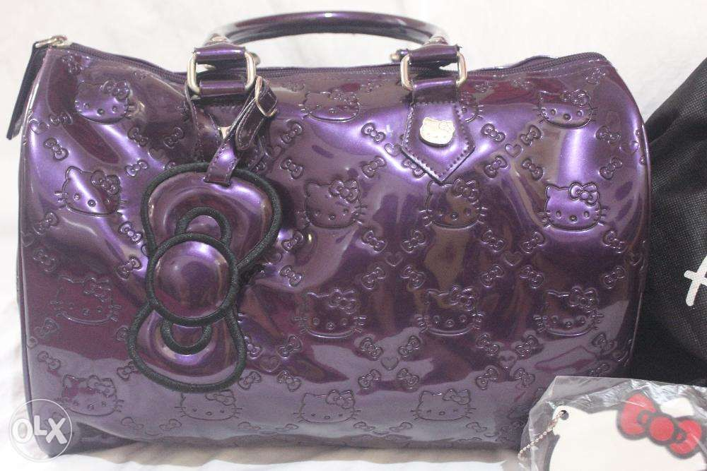b3bf964c4263 Hello Kitty Loungefly Purple Patent Embossed City Tote Large in ...