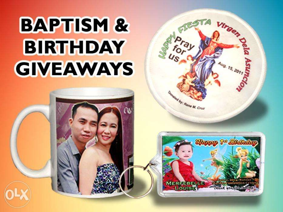 Foldable fan giveaways for baptism