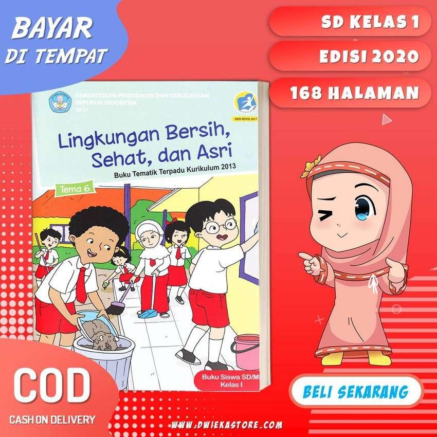 Cod Tematik Sd Kelas 1 Tema 6 Lingkungan Bersih Sehat Dan Asri Buku Majalah 781114786