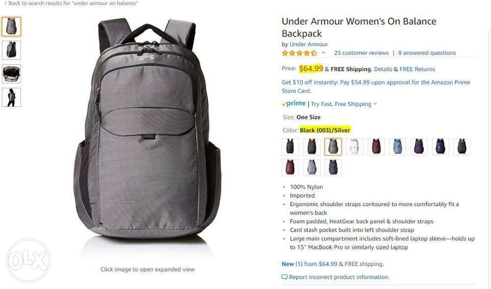 ba9d7f355998 Under Armour UA On Balance Backpack in Makati