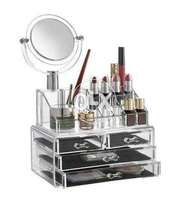 Acrylic Cosmetic Organizer 4 Drawers With Mirror