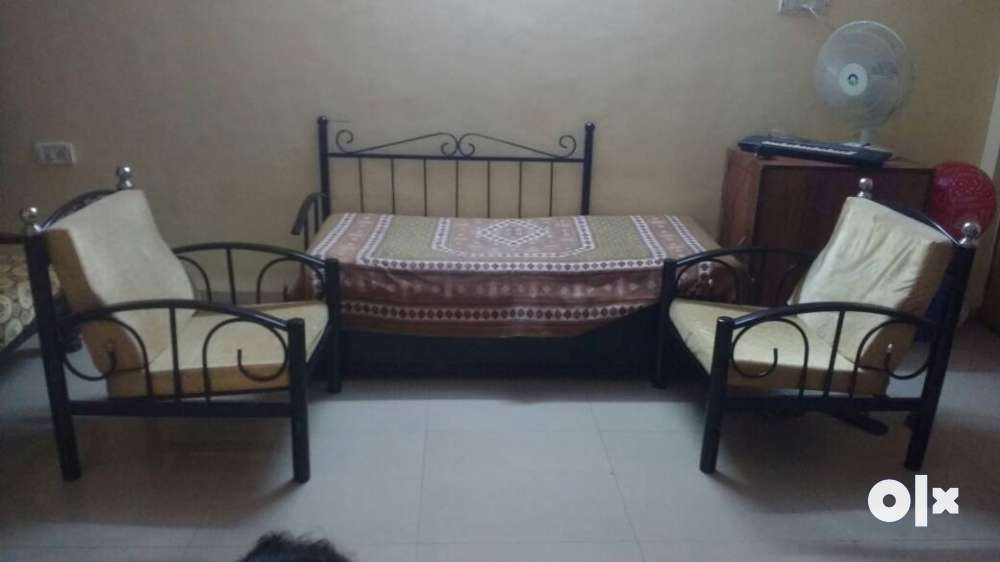 Wrought Iron sofa cum bed and chairs Thane Furniture Manpada