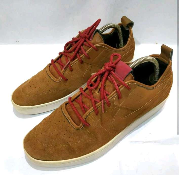 c65fdc85969a Sepatu Sneakers Nike NSW Courtside brown leather size 44 - Jakarta ...