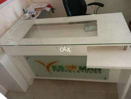 Office Table with Glass