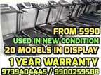 USED TREADMILL 5,990 - 1 YEAR WARRANTY 10 Models We do not stop exerci