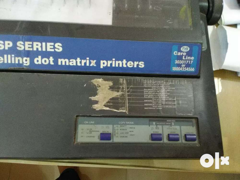 TVS MSP 345 DOT MATRIX PRINTER DRIVERS UPDATE