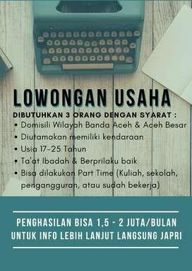 Lowongan Kerja Banda Aceh Part Time