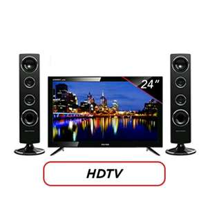 POLYTRON LED TV with Tower Speaker 24 T 811 24 Inch Garansi Resmi