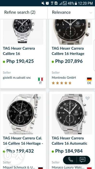 532ea114b7ad ... Tag Heuer Carrera Heritage Mall Price 240k Omega Tudor Rolex Panerai ...