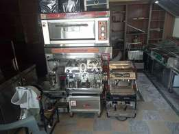 Pizza oven deep fryer hotplet salad bar coffee machine cake chiller