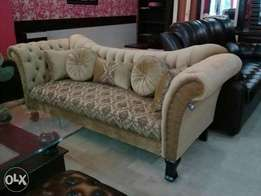 New Chester fields style sofa seven seater in fabric shaneel.