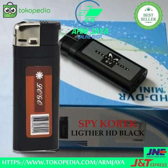 Kamera Lighter HD Spycam Korek Api Black Video Foto Record Tokai Cam
