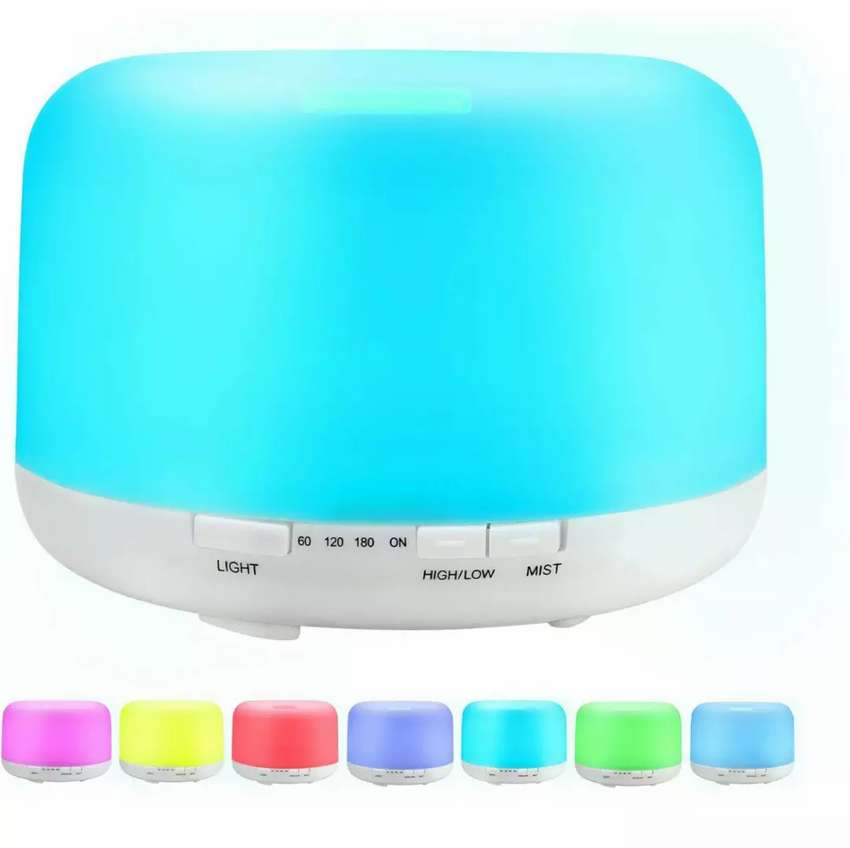 Sensky 500ml Ultrasonic Aroma Diffuser 7 Colour Changing Light ...