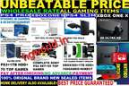 100%New Wholesale Ps4 Slim,Pro,Xbox1X,S,360,Ps3,2(LowestRate Guaranted