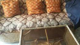 Sofa set good conidition skin colours sale on today
