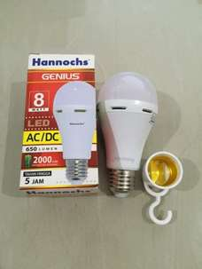 Lampu LED Hannochs Genius Emergency Magic Ac Dc 8 Watt
