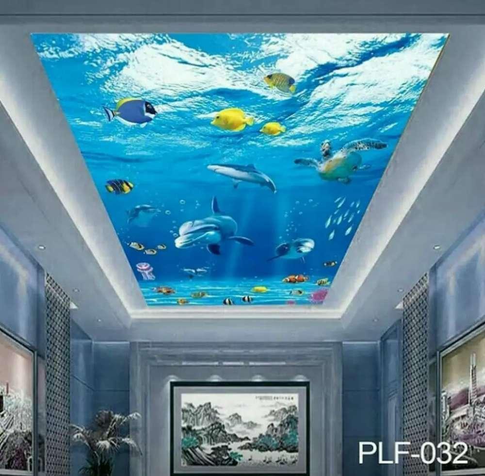 Wallpaper 3D Plafon Motif Underwater