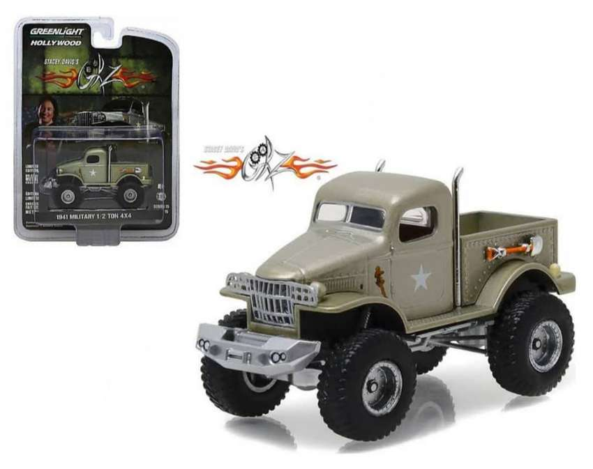 Greenlight Hollywood 15 Stacey David Gearz Half Military Truck Mainan Hobi 807248295