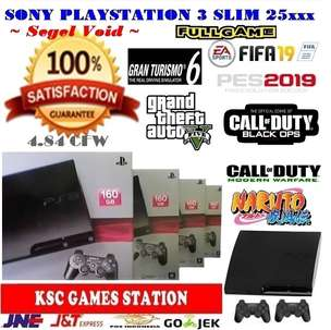 160 GB New Sony Ps3 Slim Segel Void Full Set