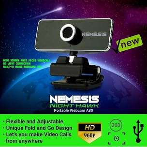 NYK Nemesis Night Hawk A80 Webcam / NYK A80 / Webcam 960P