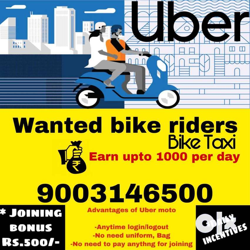 Uber Bike Taxi Need Bike Riders Delivery Collection 1567410176