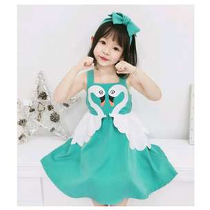 dress swan pink and tosca
