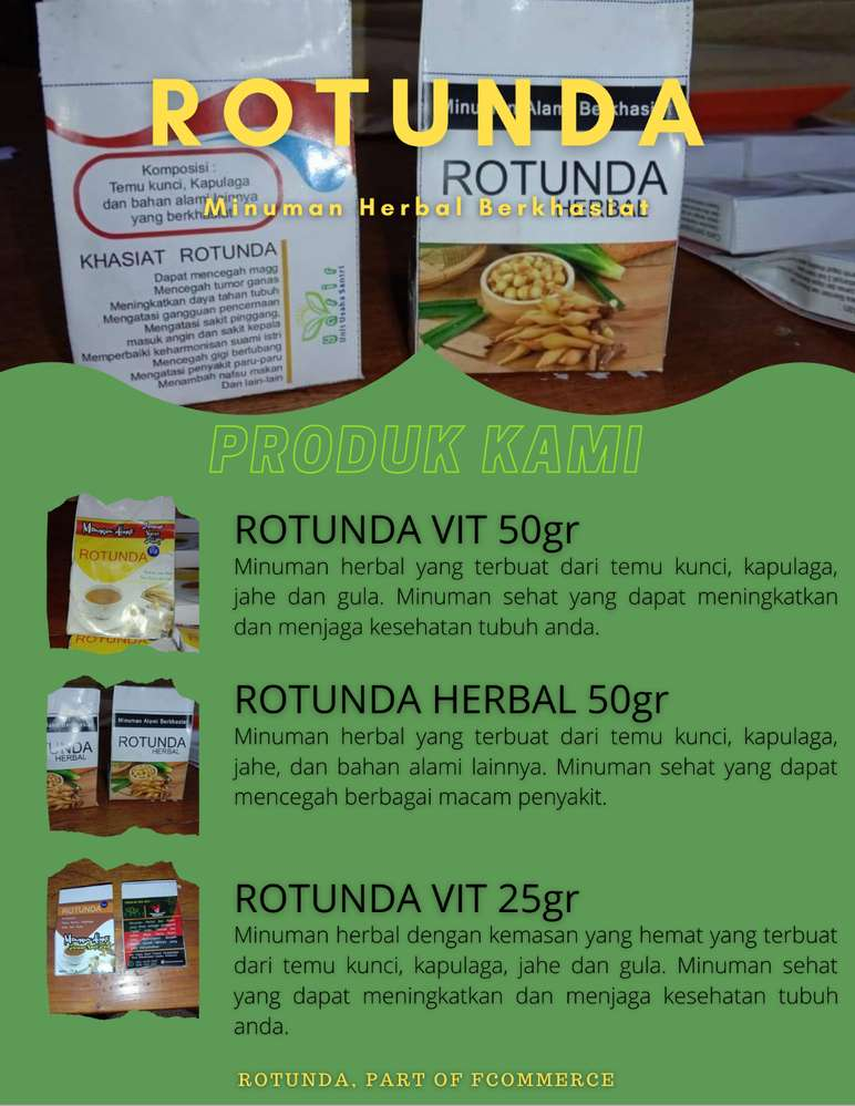 Rotunda Minuman Herbal Sehat Nutrisi Suplemen 793673059